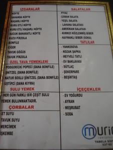 mirza kofte menu